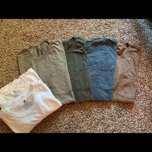 Men's set of 7 short sleeve tees. Size Large